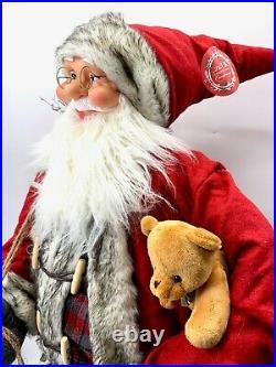 4ft Father Christmas/ Santa Life Size Doll Festive Decoration