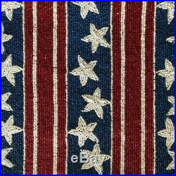 4th of July Pier 1 Star Spangled Flag Beaded Table Runner 36 x 13 NWT