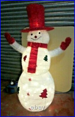 5FT Snowman LED Christmas Figure Character Decoration