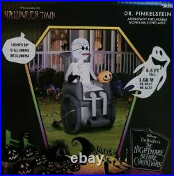 5.5F Nightmare Before Christmas Dr Finkelstein Airblown Inflatable Led Yard Deco