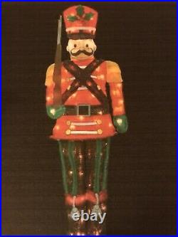 5 Foot Toy Soldier Lighted Christmas Holiday Indoor Outdoor Yard Decor