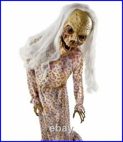 5 Ft Groaning Twitching Zombie Motion Activated Animatronic Halloween Decoration