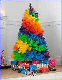 5 Ft Rainbow Christmas Fir Tree Brand New In Box Tall Multi Coloured Nhs Lgbtq