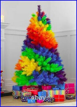 5 Ft Rainbow Christmas Fir Tree Bundle Bnib Tall Multi Coloured Nhs Lgbtq Pride