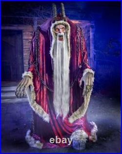 6.5' Moving & Howling Motion Activated Krampus Animatronic Christmas Decoration