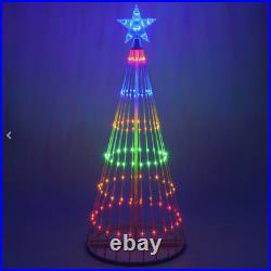 6' Multi-Cor LED Light Show Christmas Tree Animated Outdoor Decoration