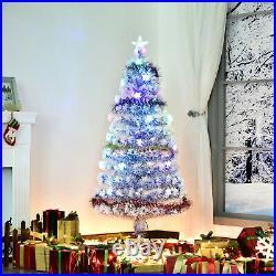 6' Pre-Lit Fiber Optic Artificial Christmas Tree 26 LED Lights White