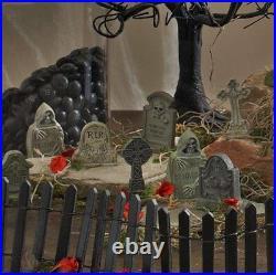 6 Tombstones Halloween Prop Spooky Decoration Haunted House Outdoor Indoor Decor