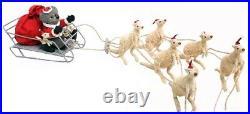 6 WHITE BOOMERS Christmas Decoration Ornament Australian Kangaroo Wildlife 100cm