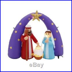 6 ft. Pre-Lit Life Size Airblown Inflatable Nativity Scene christmas baby jesus