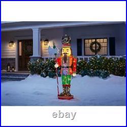6 ft Yuletide Lane LED Tinsel Nutcracker Christmas Outdoor Decoration