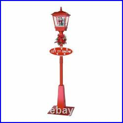 71in Outdoor Snowing Street Lamp Christmas Lantern Lighting Decoration USA