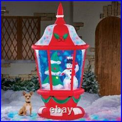 73 Inflatable Snow Globe Lantern Snowman Christmas Tree Inside Swirling Lights