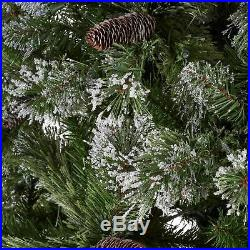 7.5-foot Cashmere Pine and Mixed Needles Hinged Artificial Christmas Tree with S