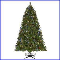 7.5 ft Wesley Spruce LED PreLit Artificial Christmas Tree with Color Changing Li