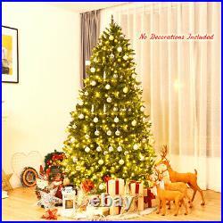 7.5ft Pre-lit PVC Christmas Fir Tree School Decor Hinged 8 Flash Mode with700 LED