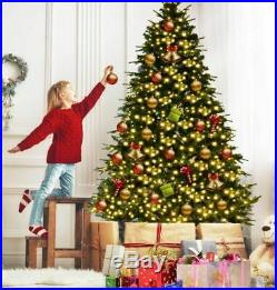 7.5ft Prelit Christmas Tree Realistic Thick Hinged Pine Cones LED Lights & Stand