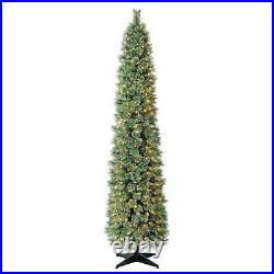7 FT Pre-Lit Cashmere Fir Pencil Slim Slender Skinny Artificial Christmas Tree