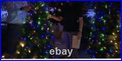 7' Santa's Best Bristol Christmas Tree Micro LEDs EZ Power QVC Multi Home Decor