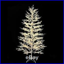 7 ft. Pre-Lit Led White Berry Artificial Christmas Tree with 500 Warm White