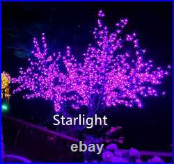 7ft 1,248pcs LEDs Cherry Blossom Tree Christmas Tree Night Light Purple Color