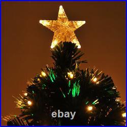 7ft Pre-Lit Fiber Optic Artificial Christmas Tree Led Lights Decorations