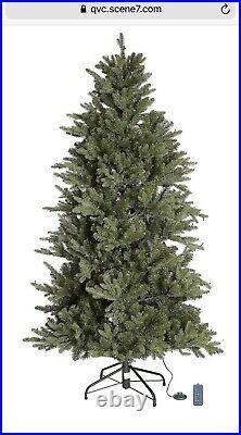 7ft Santas Best Deluxe Pre-lit LED Natural Christmas Tree