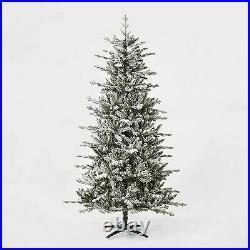 7ft Unlit Artificial Christmas Tree Flocked Balsam Fir Wondershop