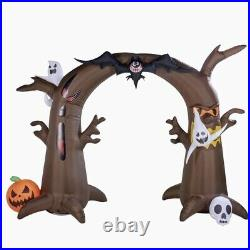 8FT HALLOWEEN EVIL TREE ARCHWAY WithGHOSTS, BATS, LED LIGHTS AIRBLOWN INFLATABLE