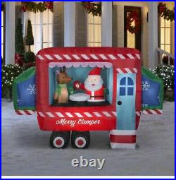 8' Self-Inflatable Lighted Merry Camper Camper/RV Christmas Outdoor Decor