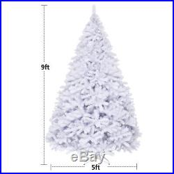 9Ft Hinged Artificial Christmas Tree Premium Pine Tree 2132 Tips with Stand