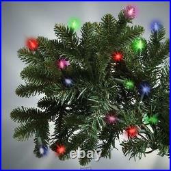 9.5 Foot Medium MULTI Lights World Best Prelit Noble Christmas Tree