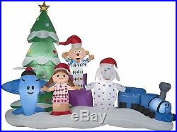 9.5 Ft CHRISTMAS Santa Rudolph MISFIT ISLAND OF TOYS Airblown Inflatable YARD