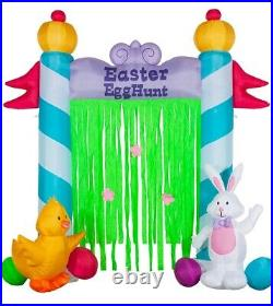 9 FT Huge Easter Bunny Airblown Inflatable Archway LED Lighted Yard Decor