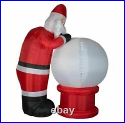 9 Ft Animated SANTA'S NAUGHTY OR NICE SNOWGLOBE Airblown Lighted Yard Inflatable