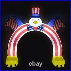 9 Ft Patriotic American Eagle Lighted Airblown Inflatable 4th Of July Yard Decor
