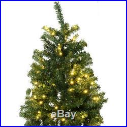 9 ft PVC Pre-lit Full Artificial Christmas Xmas Tree with Metal Stand