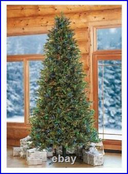 9ft Artificial Pre-lit Surebright Led Christmas Tree Ez Connect, Clear/multi