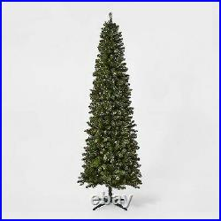 9ft Pre-lit Artificial Christmas Tree Slim Alberta Spruce Clear Lights