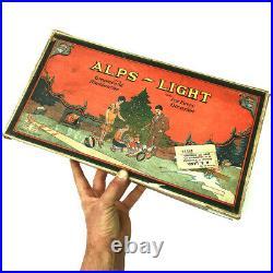 A Scarce Vintage Box Of Alps Lights Chinese Lanterns Christmas Tree Lights Bulbs