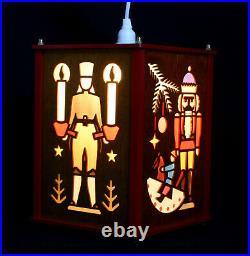Advent- Laterne 27cm aus Holz traditionelles Motiv vom Erzgebirge Fachhändler