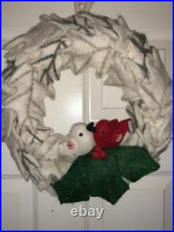Anthropologie Felt Lovebirds Wreath