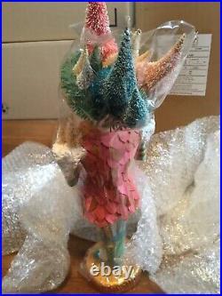 Anthropologie Glitterville Whimsical King Snow Nutcracker Decoration Statue 18