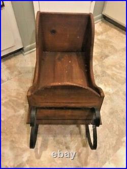 Antique Wooden Child Sleigh