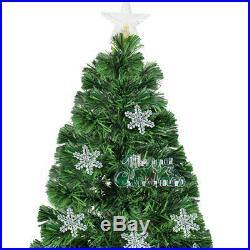 Artificial 7' ft Fiber Optic Christmas Tree with LED Multicolor Prelit Lights