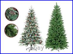 Artificial Christmas Tree 5/6/7ft Ontario Duchess Spruce Green Flocked Hinged