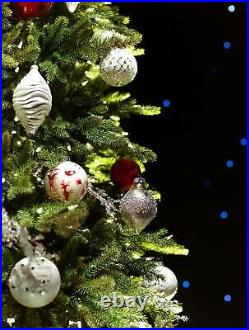 Balsam Hill Red Spruce Slim 6.5 Ft Christmas Tree Candlelight Clear LED