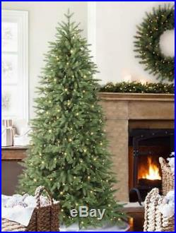 Balsam Hill Stratford Spruce 7.5 ft Christmas Tree narrow Clear Pre-Lighted NEW