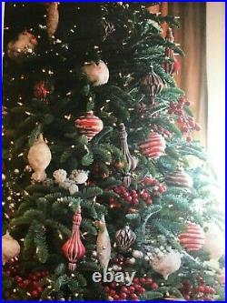 Balsum Hill 8' Noble Fir Christmas Tree LED Lighting still in box