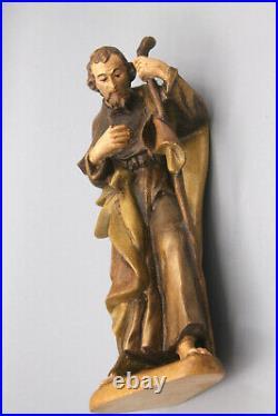 Barocke Krippenfiguren Hl. Familie Italien 15cm geschnitzt farblich gefasst #N23